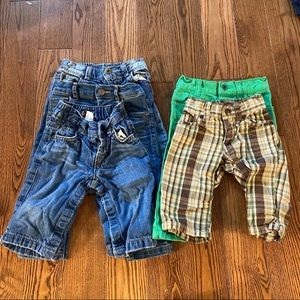 🛍3/$25 Bundle of five pairs of pants 6+ months